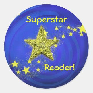 Superstar Reader! Classic Round Sticker