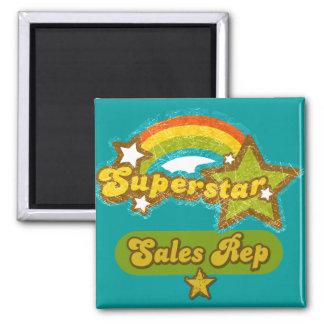 Superstar Sales Rep Square Magnet