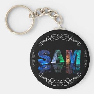 Superstar Sam -  Name in Lights (Photograph) Keychain