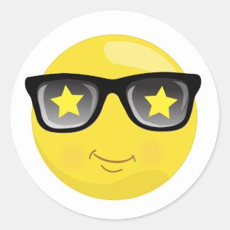 Superstar Smiley Yellow Emoji Stickers