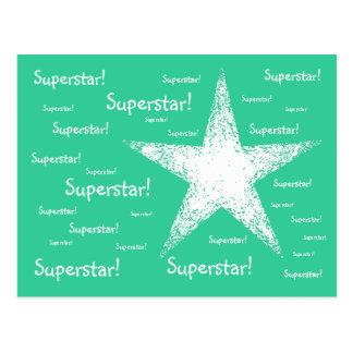 Superstar! | Turquoise Postcard
