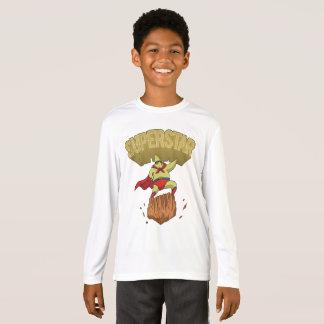 Superstar Yellow Star Superhero on a Rock T-Shirt