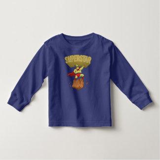 Superstar Yellow Star Superhero on a Rock Toddler T-shirt