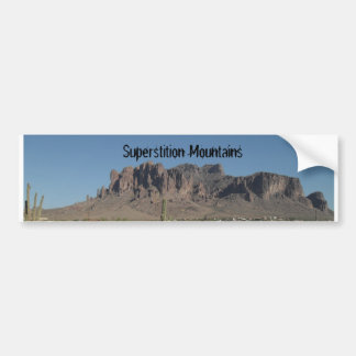 Superstition Mountains Bumper Sticker