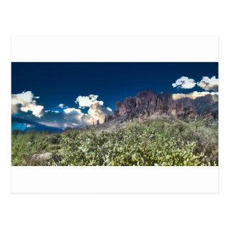 Superstition Mountian Range Postcard