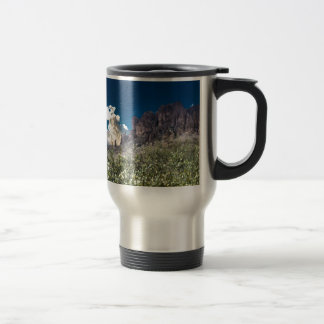 Superstition Mountian Range Travel Mug
