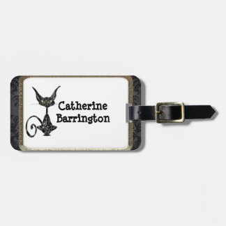Superstitious Black Cat Luggage Tag