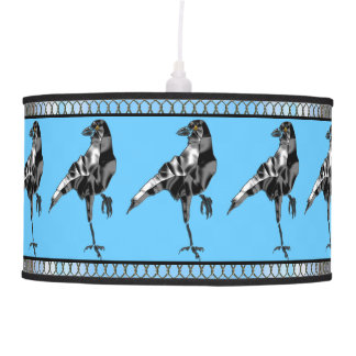 Superstitious Black Crow Lamp