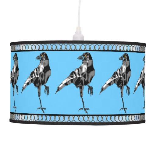 Superstitious Black Crow Lamp