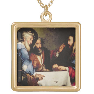 Supper at Emmaus Gold Plated Necklace