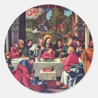 Supper By Schäufelein Hans Classic Round Sticker