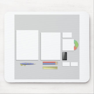 supplies papers mouse pad