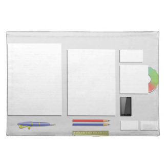 supplies papers placemat