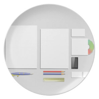 supplies papers plate