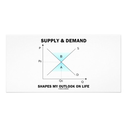 Supply & Demand Shapes My Outlook On Life (Econ) Custom Photo Card