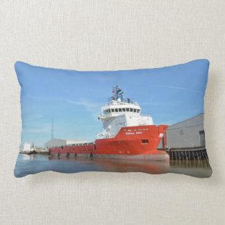 Supply Ship Durga Devi Lumbar Pillow