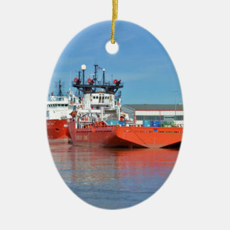 Supply Ships Energy Lord And Durga Devi Ceramic Oval Ornament