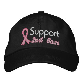 Support 2nd Base - Breast Cancer Baseball Cap