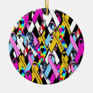 Support a Cause Round Ceramic Ornament
