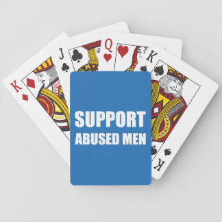 Support Abused Men Playing Cards