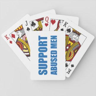 Support Abused Men Poker Deck