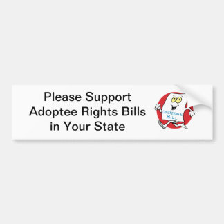 Support Adoptee Rights Bumper Sticker