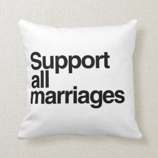 Support All Marriages Throw Pillows