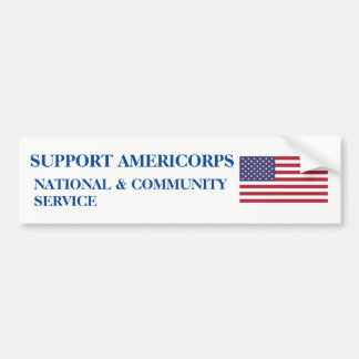 SUPPORT AMERICORPS BUMPER STICKER