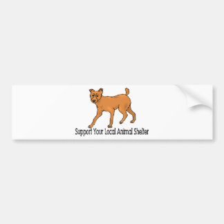 Support Animal Shelters Bumper Sticker