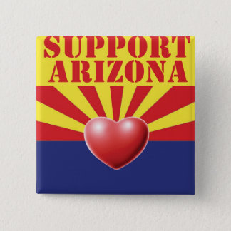 SUPPORT Arizona, AZ 2 Inch Square Button
