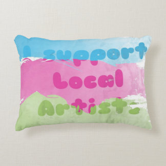 support artists local color pastels decorative pillow