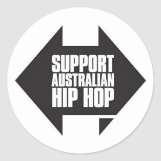 Support Australian hip hop sticker
