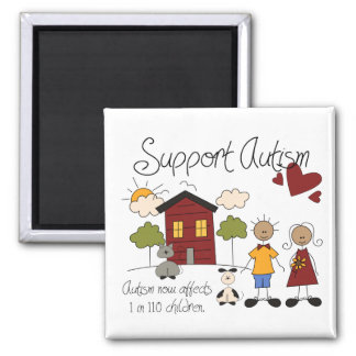 Support Autism - Autism Awareness Magnet