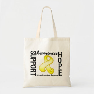 Support Awareness Hope Suicide Prevention Budget Tote Bag