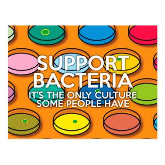 SUPPORT BACTERIA POSTCARD