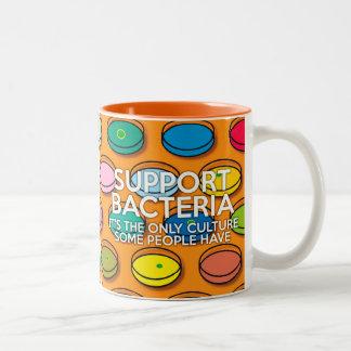 SUPPORT BACTERIA Two-Tone COFFEE MUG