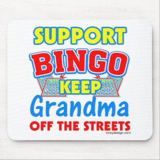 Support Bingo Grandma Mouse Pad