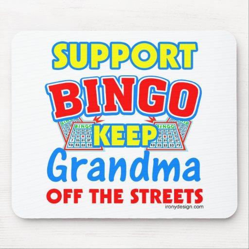 Support Bingo Grandma Mouse Mat