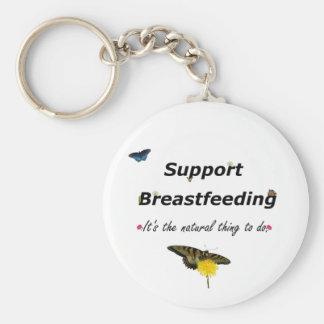 Support Breastfeeding nature design Basic Round Button Keychain