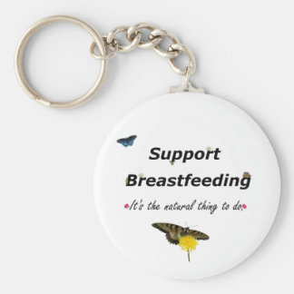 Support Breastfeeding nature design Keychain