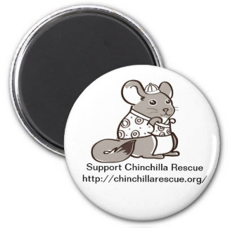 Support Chinchilla Rescue Chinese Chin magnet