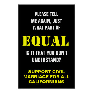 Support Civil Marriage for All Californians Poster