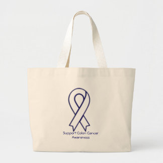 Support Colon Cancer Awareness Large Tote Bag