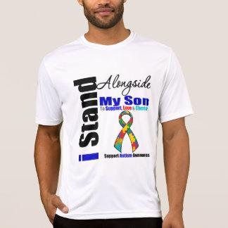 Support de l'autisme I à côté de mon fils T-shirts