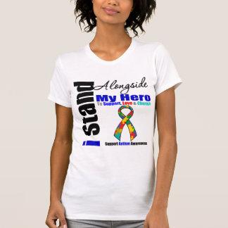 Support de l'autisme I à côté de mon héros T-shirt