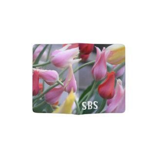 support de passeport de tulipe protège-passeport