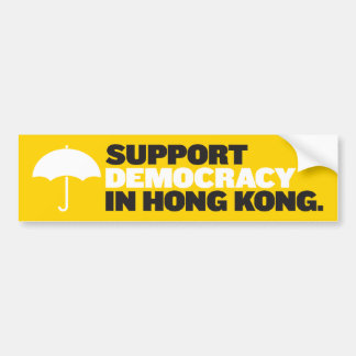 Support Democracy in Hong Kong Bumper Sticker