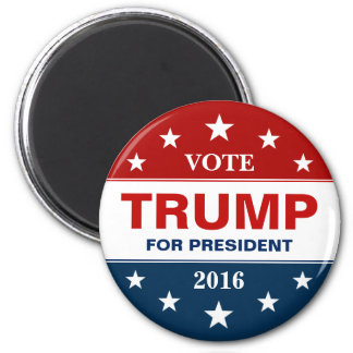 Support Donald Trump for President 2016 Campaign 2 Inch Round Magnet