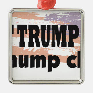 Support Donald Trump With This Great Product Silver-Colored Square Ornament