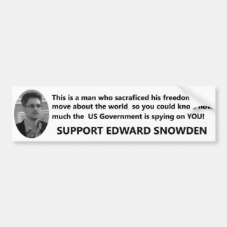 Support Edward Snowden Bumper Sticker